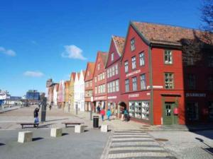 Norsko Bergen domy unesco