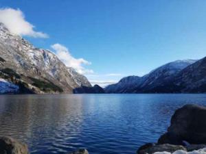 Norsko jezero nad Oddou
