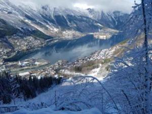 Norsko nad Oddou fjord